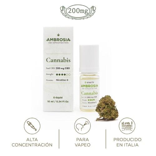 Ambrosia CBD eliquid cannabis liquido vapeo cannabidiol relajante