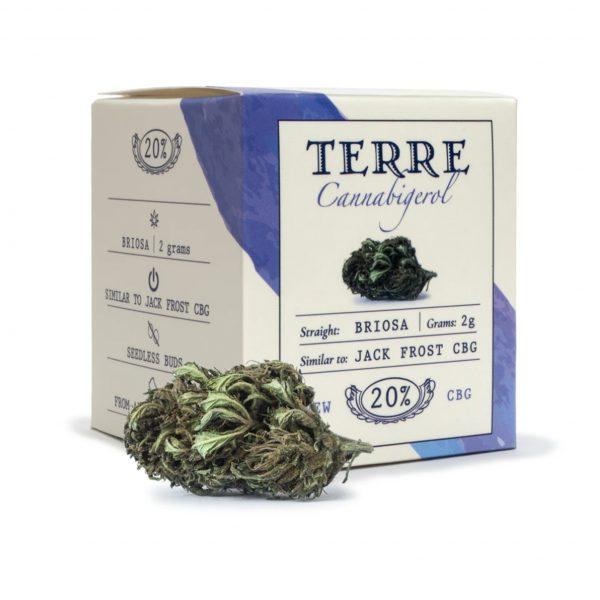 Flores de CBD Cannabis light Briosa Jack Frost CBG Cannabigerol